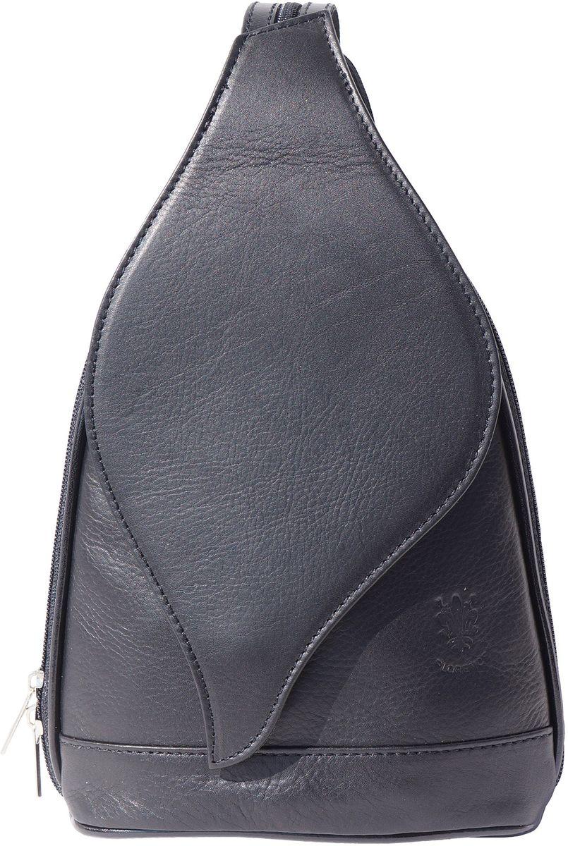 Δερμάτινη Τσάντα Πλάτης Foglia GM Firenze Leather 2060 Μαύρο γυναίκα   τσάντες πλάτης