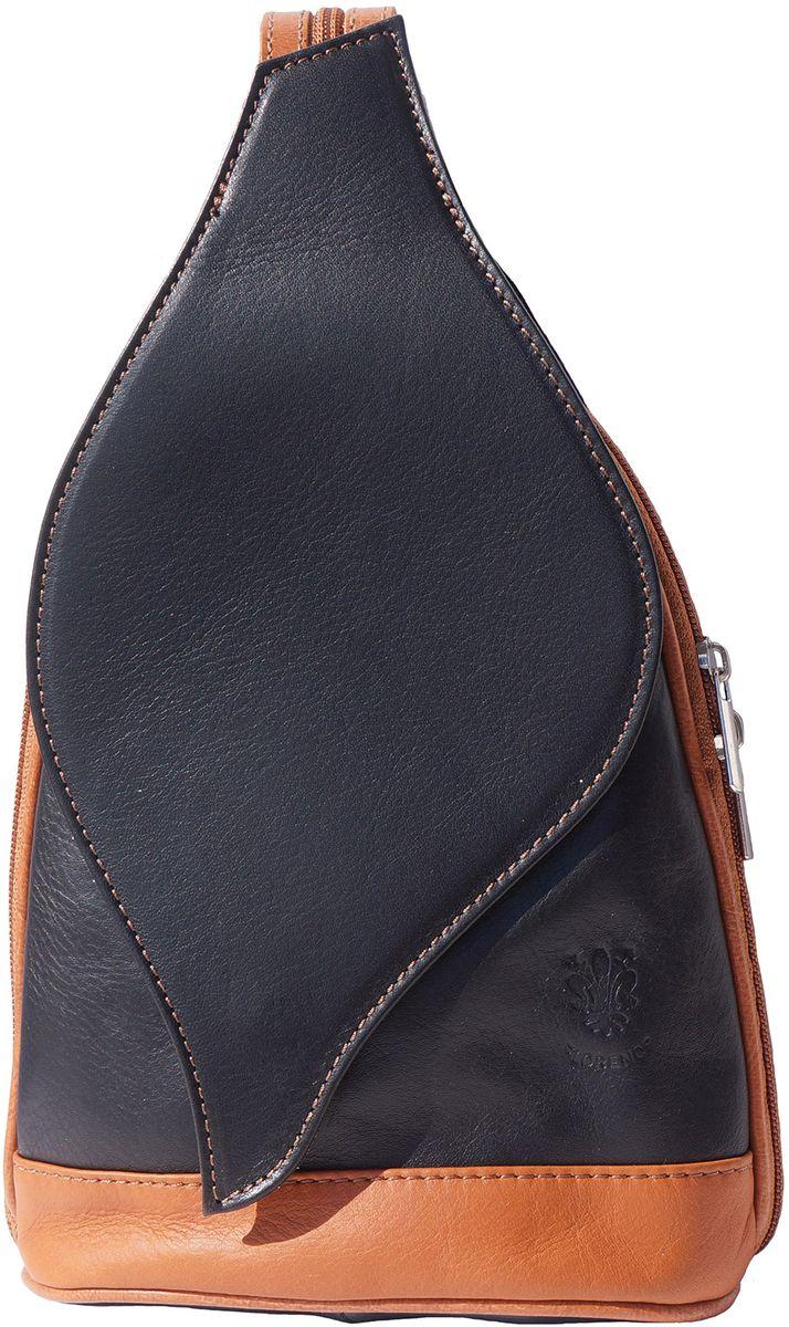 3d1fb75561 Δερμάτινη Τσάντα Πλάτης Foglia GM Firenze Leather 2060 Μαύρο Μπεζ