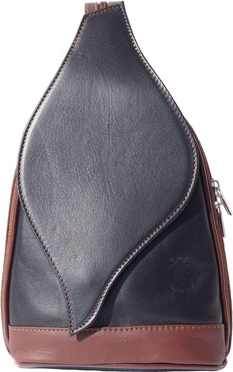 fff3caaa3a Δερμάτινη Τσάντα Πλάτης Foglia GM Firenze Leather 2060 Μαύρο Καφε ...