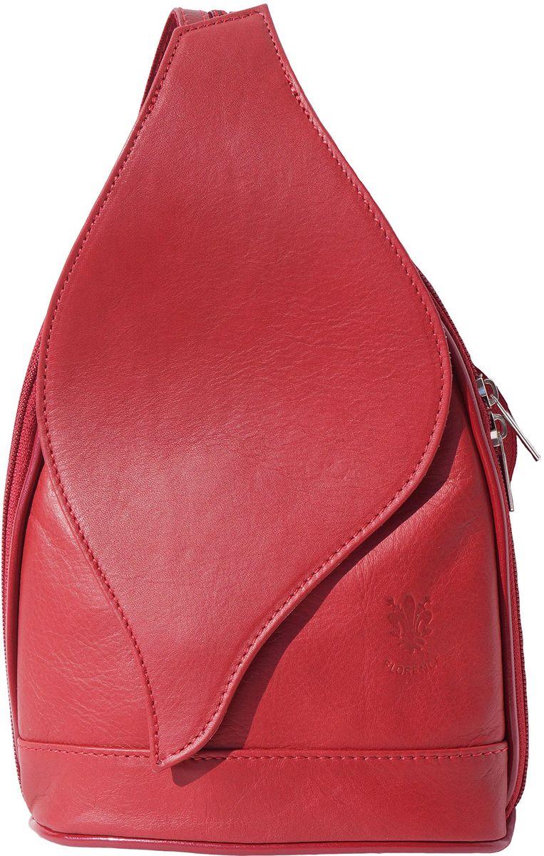 36f2c71a49 Δερμάτινη Τσάντα Πλάτης Foglia GM Firenze Leather 2060 Κόκκινο
