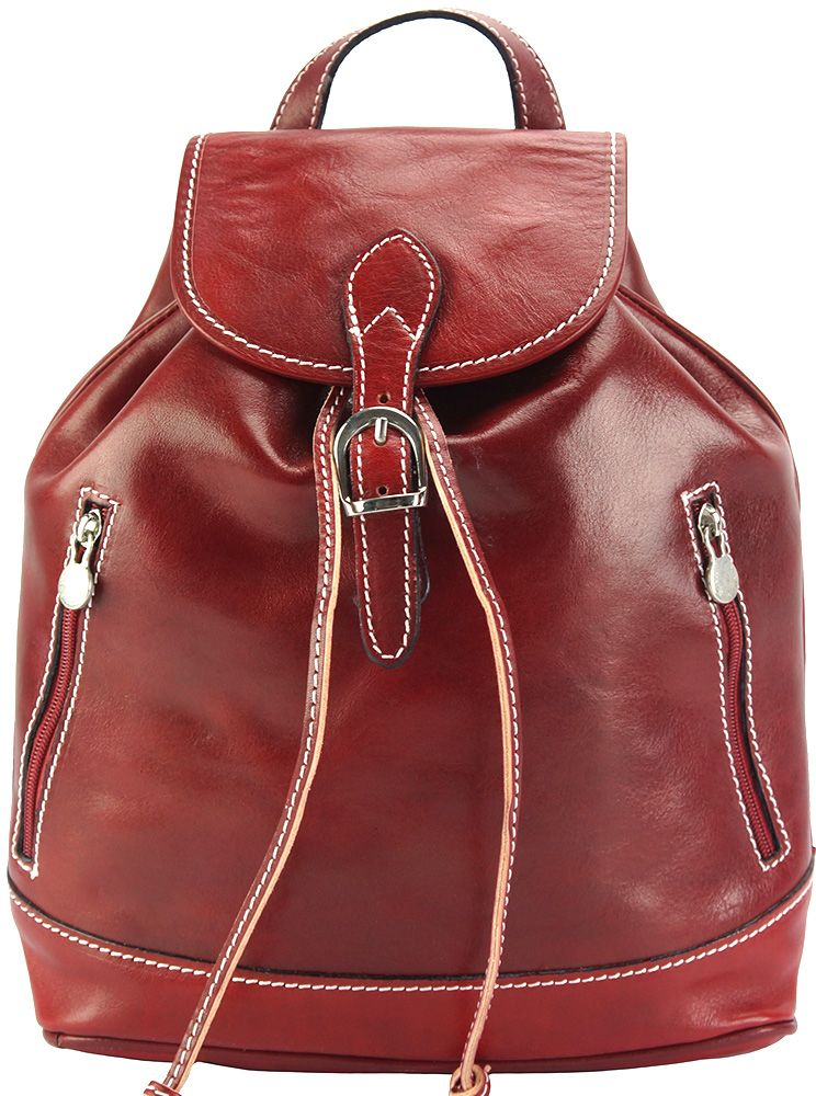 86f4a3b6f7 Δερμάτινη Τσάντα Πλάτης Luminosa GM Firenze Leather 6560 Κόκκινο