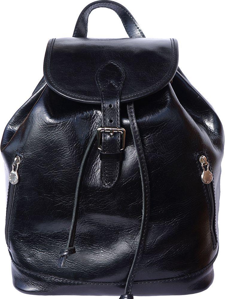 Δερμάτινη Τσάντα Πλάτης Luminosa GM Firenze Leather 6560 Μαύρο 3a017d4f659
