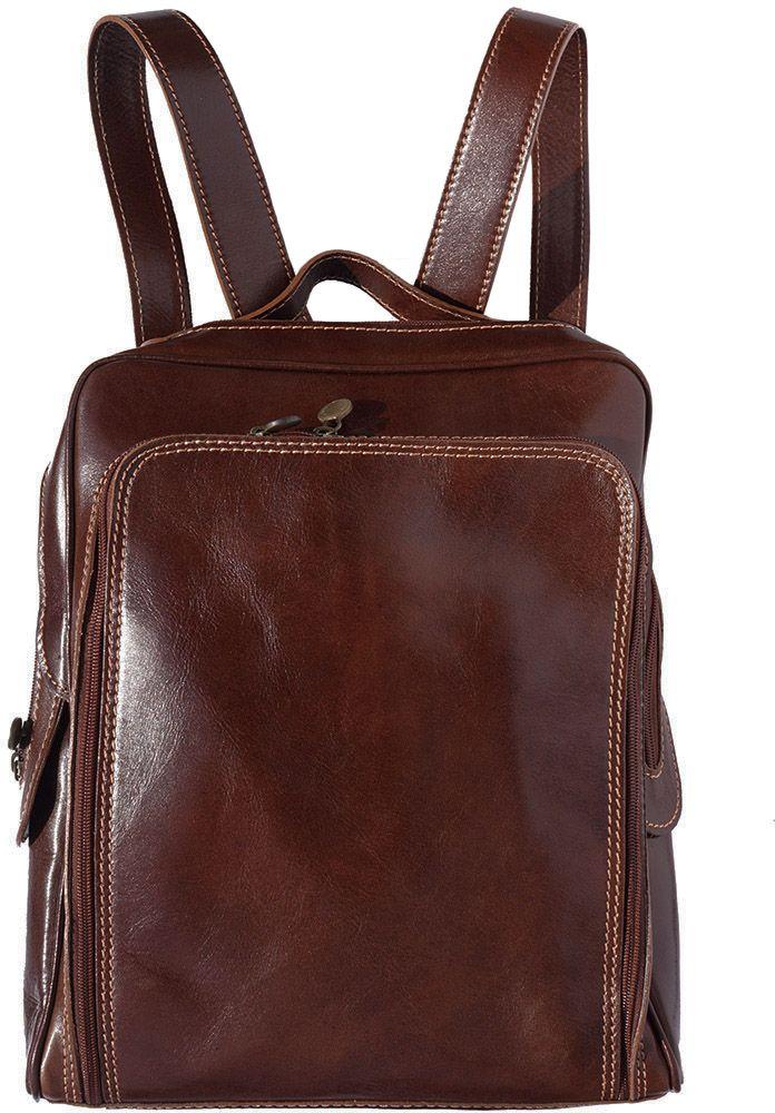 Δερμάτινη Τσάντα Πλάτης Gabriele Firenze Leather 6538 Σκουρο Καφε γυναίκα   τσάντες πλάτης