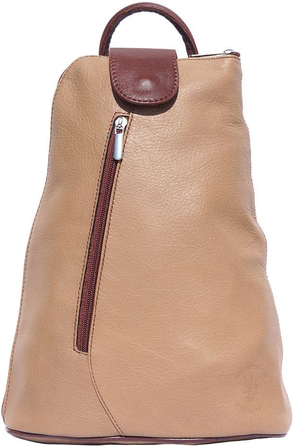 Δερμάτινη Τσάντα Πλάτης Michela GM Firenze Leather 2009 Σκούρο Μπεζ/Καφε γυναίκα   τσάντες πλάτης