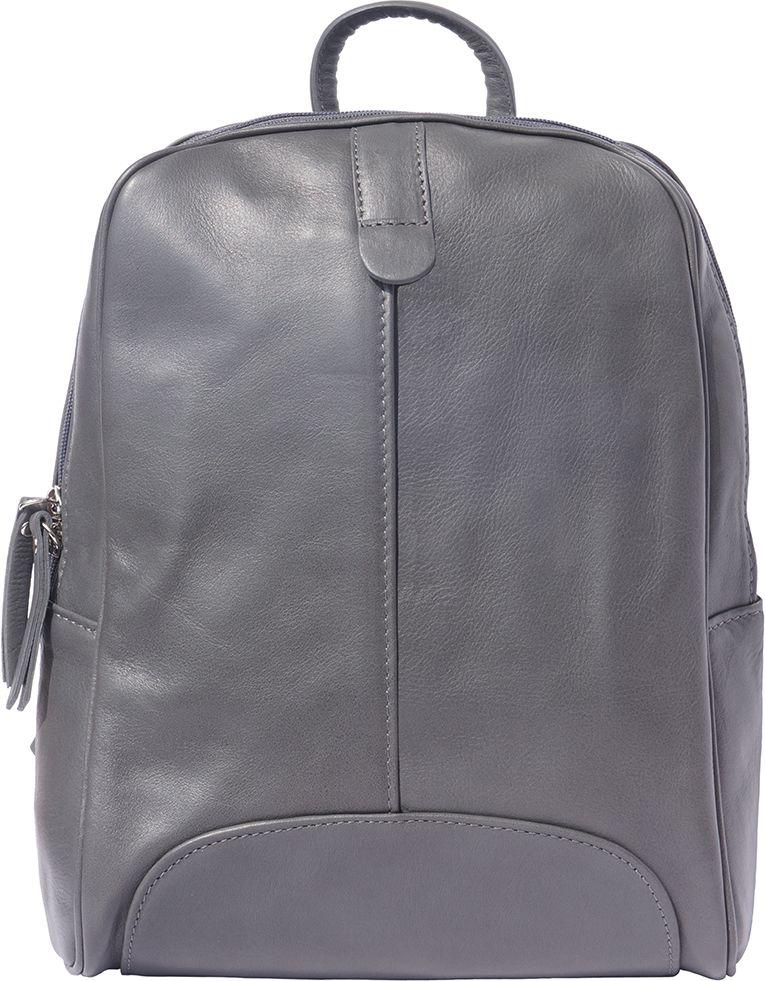 Δερματινη Τσαντα Πλατης Cinzia Firenze Leather 6146 Σκουρο Γκρι γυναίκα   τσάντες πλάτης
