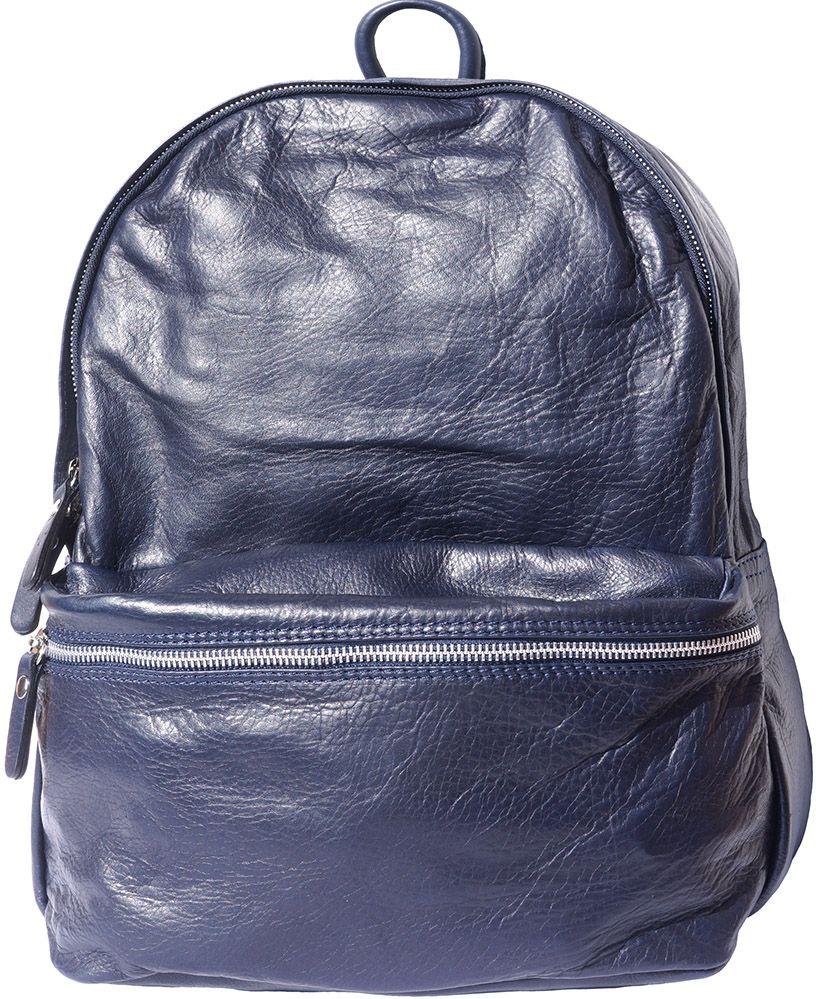 Δερμάτινη Τσαντα Πλατης Firenze Leather 7028 Σκουρο Μπλε γυναίκα   τσάντες πλάτης