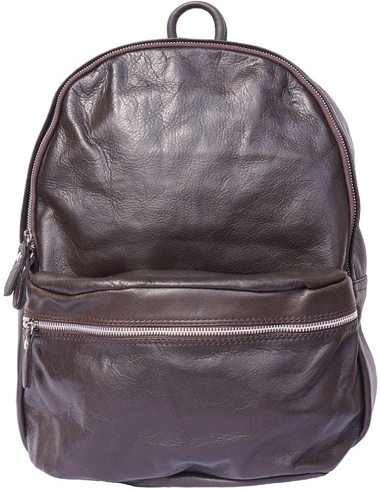 Δερμάτινη Τσαντα Πλατης Firenze Leather 7028 Σκουρο Καφε γυναίκα   τσάντες πλάτης