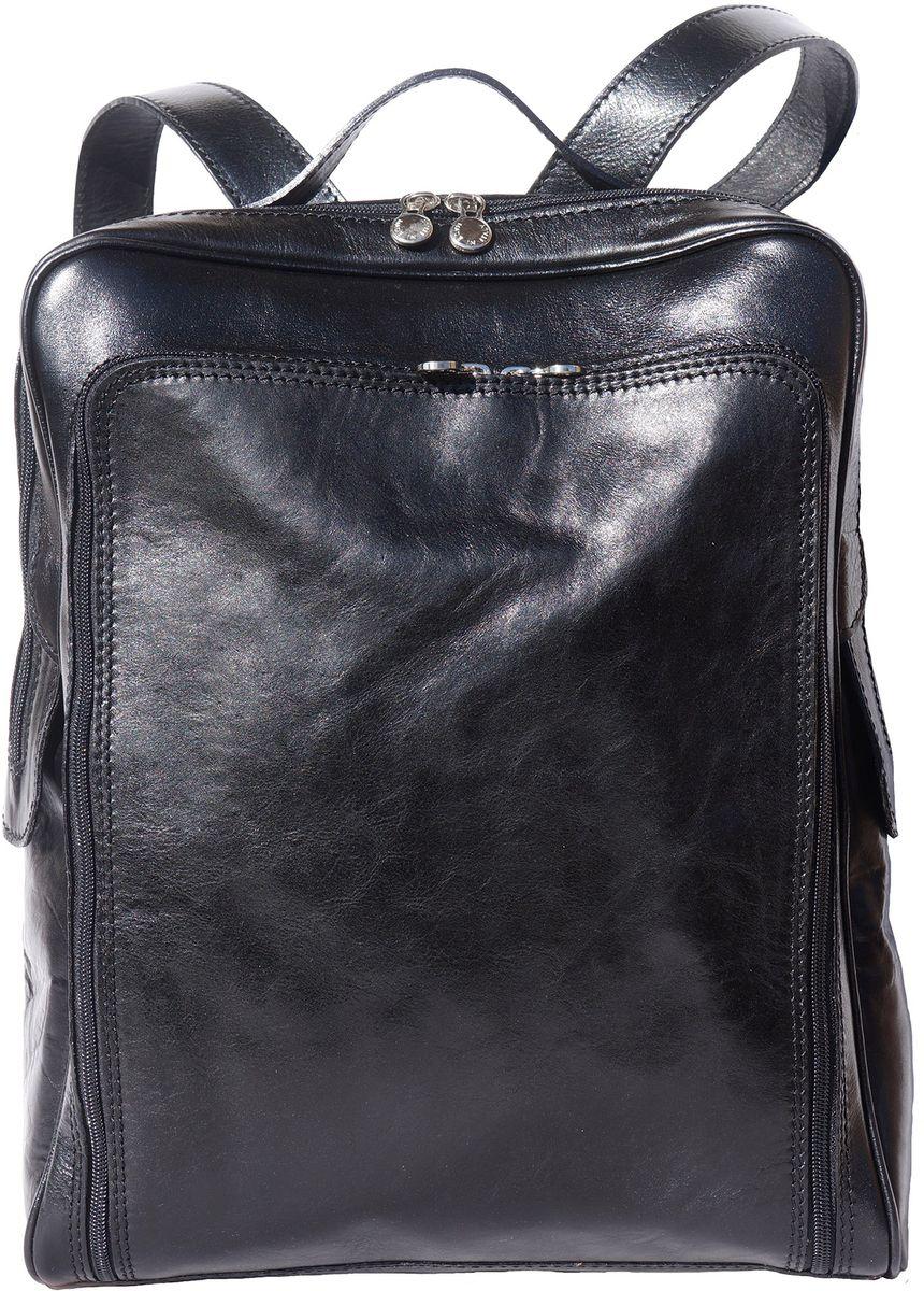 Δερματινη Τσαντα Πλατης Firenze Leather 6558 Μαύρο γυναίκα   τσάντες πλάτης