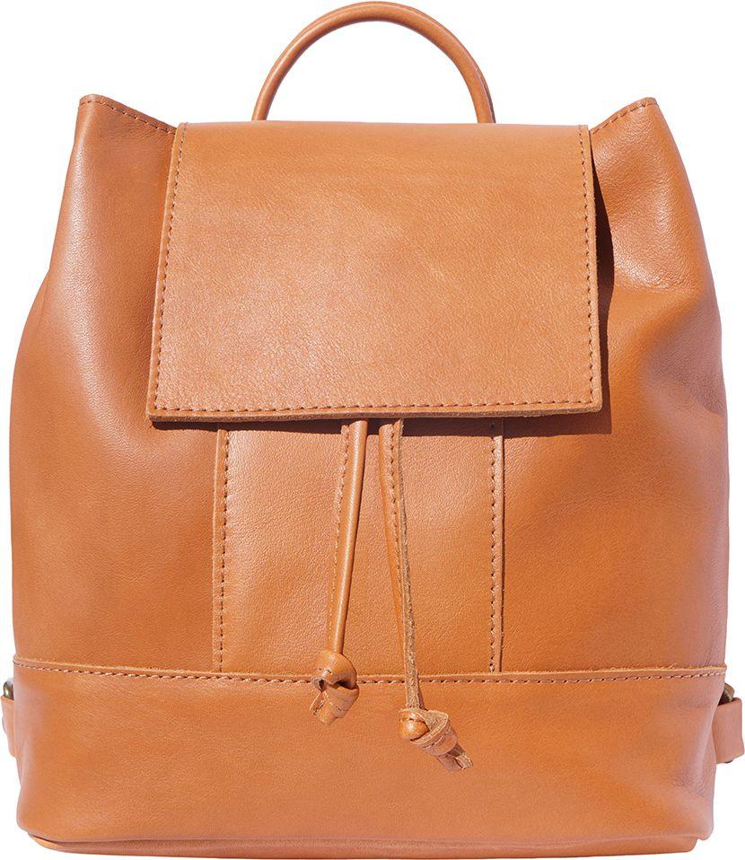 fe78f467d4 Bagz Γυναικειο Δερματινο Σακιδιο Πλατης Carolina Firenze Leather 2002 Μπεζ
