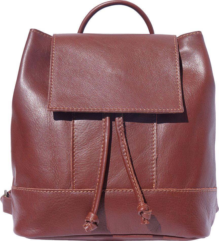 5db180dc757 Γυναικειο Δερματινο Σακιδιο Πλατης Carolina Firenze Leather 2002 Καφε