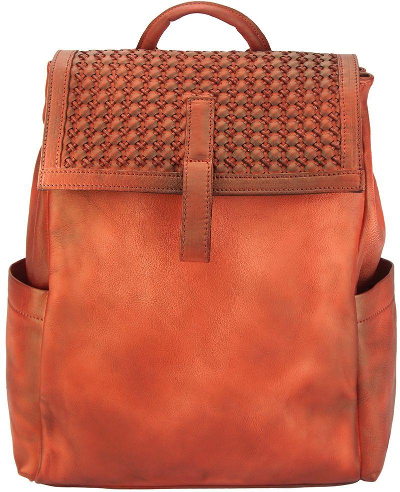 Δερμάτινη Τσάντα Πλάτης Nicola Firenze Leather 68033 Κόκκινο γυναίκα   τσάντες πλάτης
