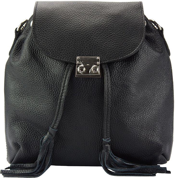 85792f46ed Δερμάτινη Τσάντα Πλάτης Bougainvillea Firenze Leather 9119 Μαύρο