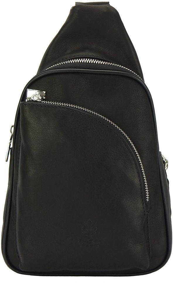 7e27f8275d Δερμάτινη Τσάντα Πλάτης Gerardo Firenze Leather 6123 Μαύρο