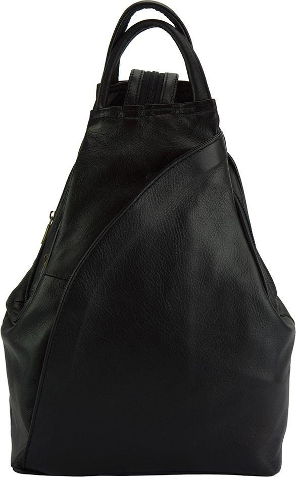 Δερμάτινη Τσάντα Πλάτης Antonella Firenze Leather 2065 Μαύρο γυναίκα   τσάντες πλάτης