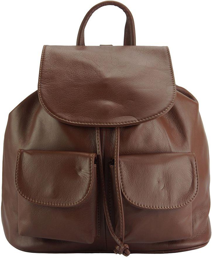 Δερμάτινη Τσάντα Πλάτης Irene Firenze Leather 2068 Καφε 378ae2ff522