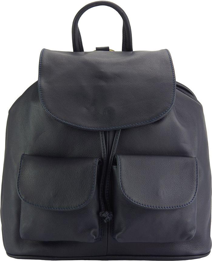 Δερμάτινη Τσάντα Πλάτης Irene Firenze Leather 2068 Σκουρο Μπλε γυναίκα   τσάντες πλάτης