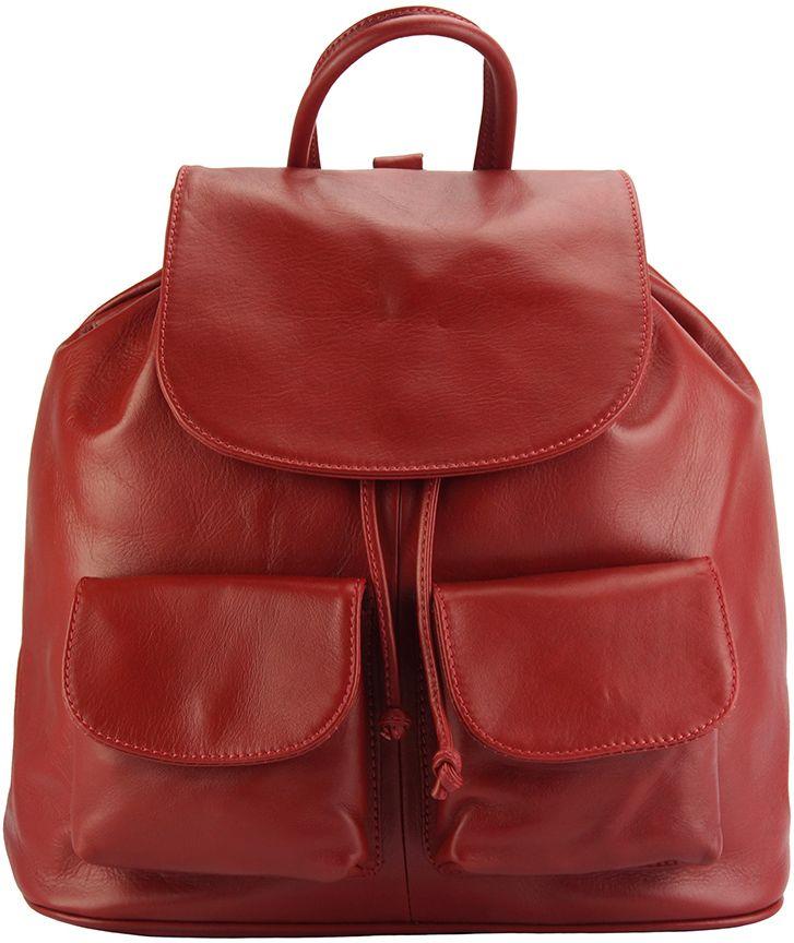 Δερμάτινη Τσάντα Πλάτης Irene Firenze Leather 2068 Κόκκινο γυναίκα   τσάντες πλάτης