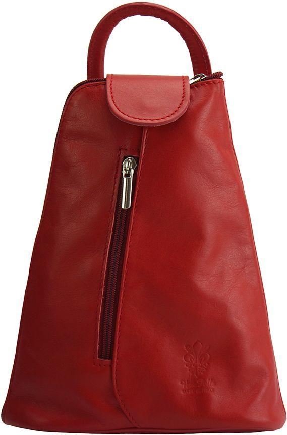 Δερμάτινη Τσάντα Πλάτης Michela Firenze Leather 2001 Κόκκινο γυναίκα   τσάντες πλάτης
