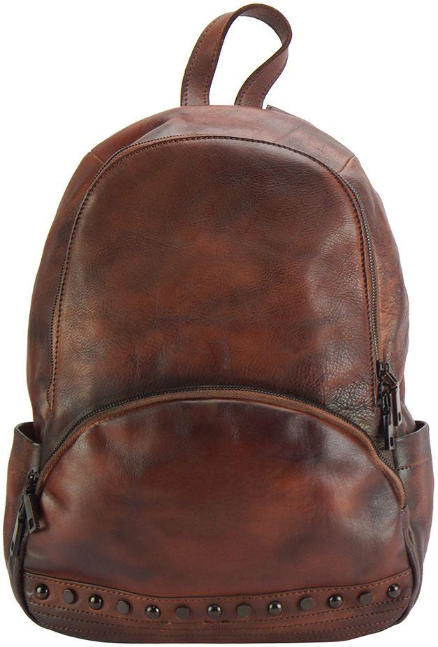 Δερμάτινη Τσάντα Πλάτης Walter Firenze Leather 68127 Καφε