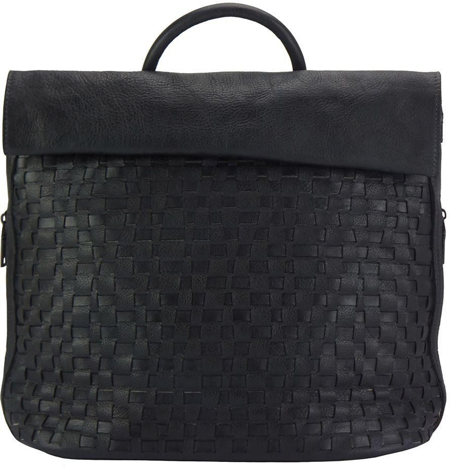 Δερμάτινη Τσάντα Πλάτης Gioele Firenze Leather 68145 Μαύρο γυναίκα   τσάντες πλάτης