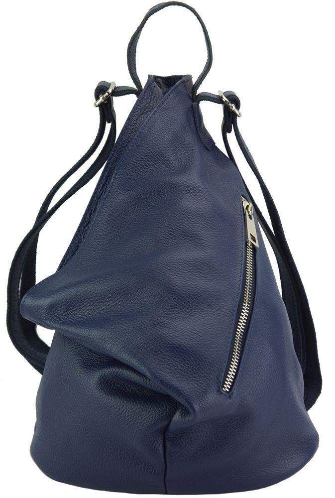 Δερμάτινη Τσάντα Πλάτης Clapton Firenze Leather 9200 Σκουρο Μπλε γυναίκα   τσάντες πλάτης