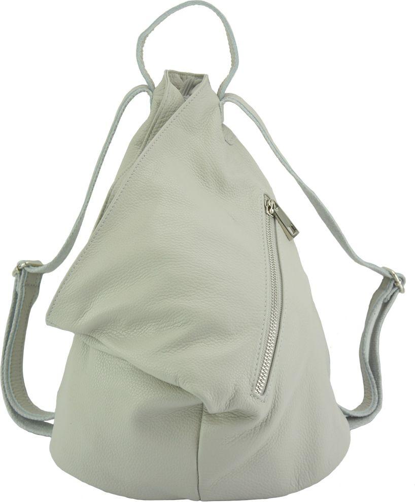 Δερμάτινη Τσάντα Πλάτης Clapton Firenze Leather 9200 Γκρι γυναίκα   τσάντες πλάτης