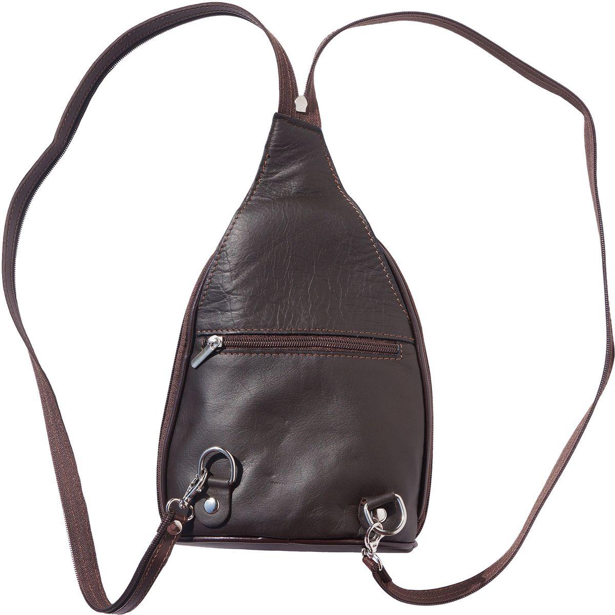 2f771842b5 ... Δερμάτινη Τσάντα Πλάτης Foglia GM Firenze Leather 2060 Σκουρο Καφε ...
