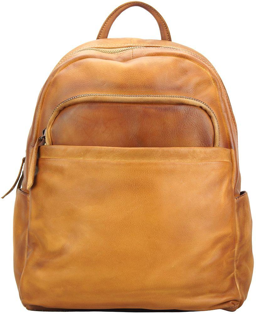 f1e2838f04 Δερμάτινη Τσάντα Πλάτης Jake Firenze Leather 68030 Μπεζ