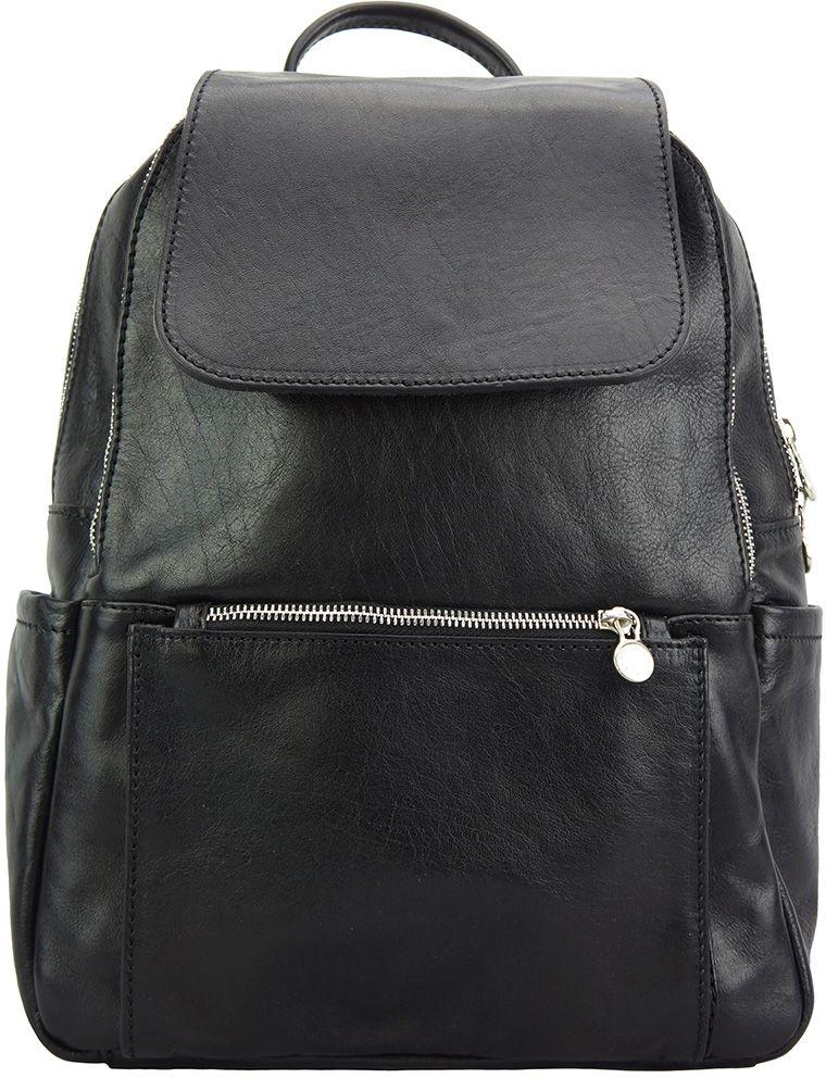 e47a306d2b Δερμάτινη Τσάντα Πλάτης Brittany Firenze Leather 6566 Μαύρο