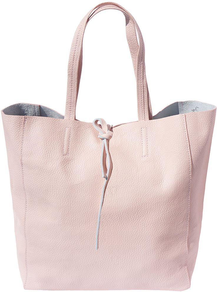Δερματινη Τσαντα Ωμου Babila Firenze Leather 9121 Ροζ
