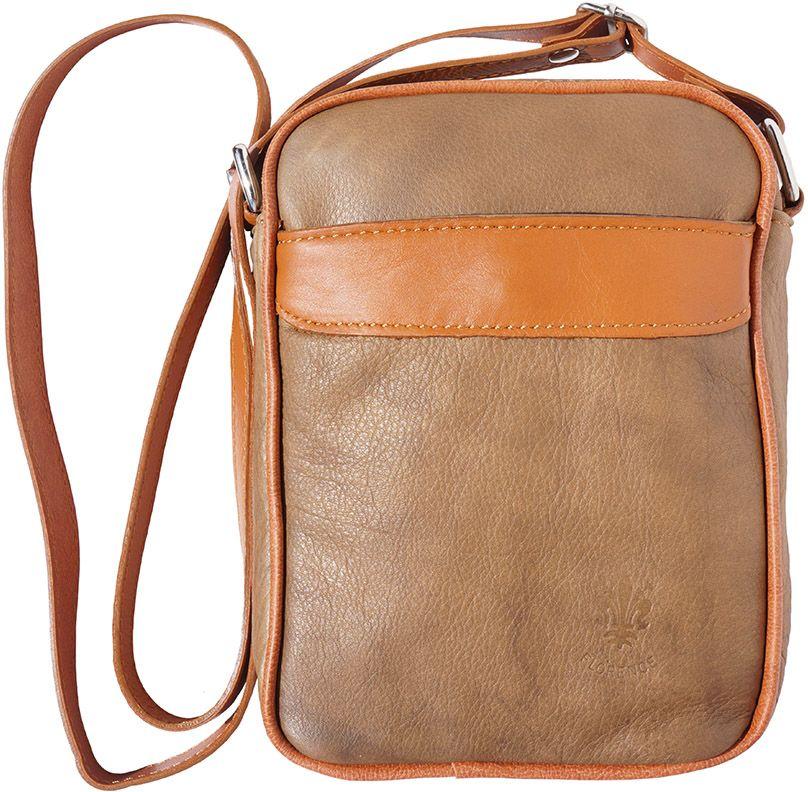 9586119cf3 Ανδρικο Δερματινο Τσαντακι Ωμου Firenze Leather B032 Σκουρο  Μπεζ