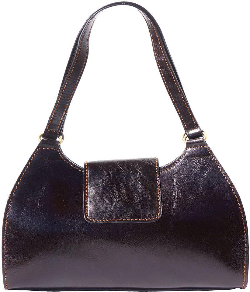 03797cdf94 Τσαντα Ωμου Δερμάτινη Floriana Firenze Leather 6414 Σκουρο Καφε