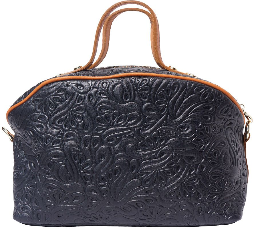 63918fe405 Τσαντα Χειρος Δερματινη Tarsilla Firenze Leather B301 Μαύρο