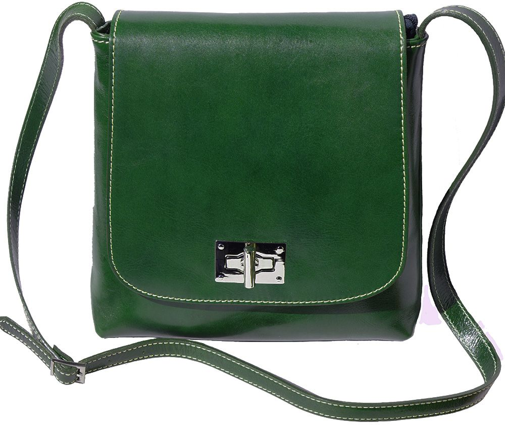965e0187f7 Γυναικειο Τσαντακι Ωμου Firenze Leather 6546 Σκουρο Πρασινο