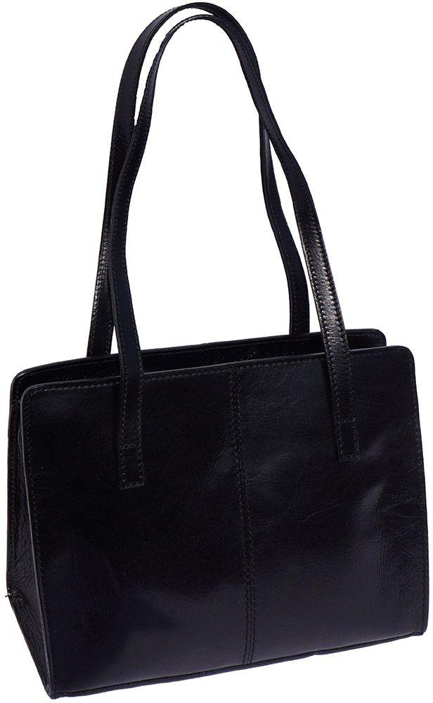 Δερμάτινη Τσάντα Ωμου Firenze Leather 6510 Μαύρο γυναίκα   τσάντες ώμου   χειρός