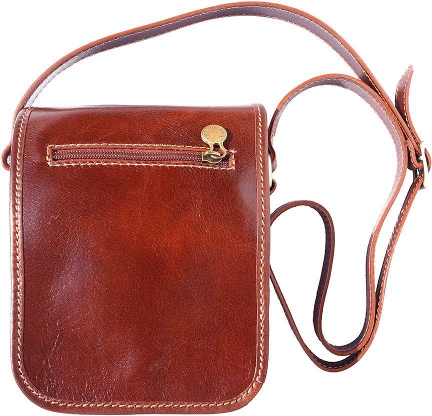 70f24d7584 Δερματινο Τσαντακι Ωμου Αντρικό Firenze Leather 7624 Καφε