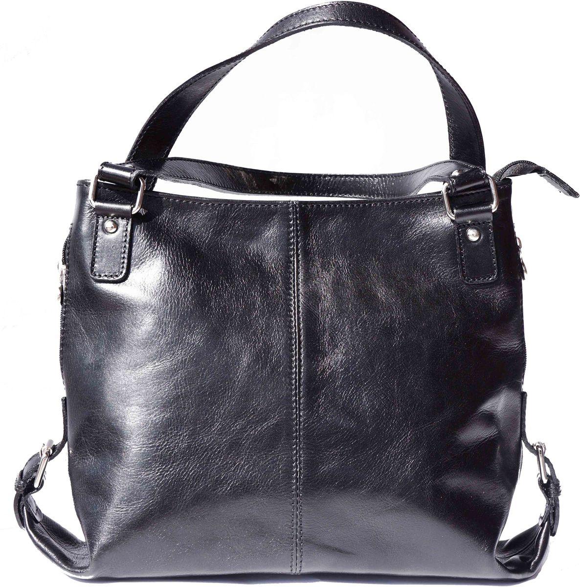 Δερματινη Τσαντα Ωμου Firenze Leather 6547 Μαύρο γυναίκα   τσάντες ώμου   χειρός