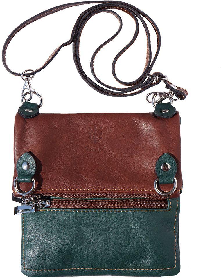 07d39f33c8 Τσαντα Ωμου Δερμάτινη Firenze Leather 408 Σκουρο Πρασινο Καφε