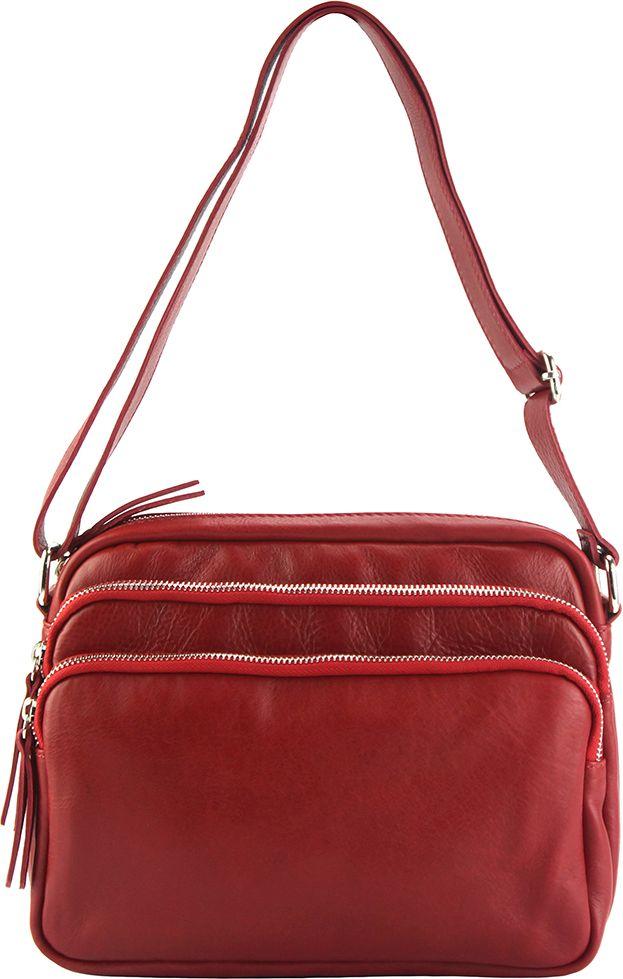 Δερμάτινη Τσάντα Ωμου Assunta Firenze Leather 6129 Κόκκινο