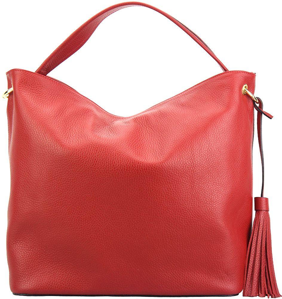 Δερματινη Τσαντα Ωμου Mazarine Firenze Leather 5758 Κόκκινο