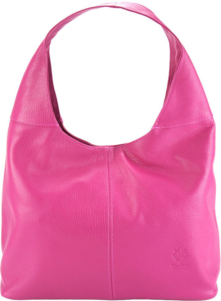 Δερματινη Γυναικεια Τσαντα Ωμου The Caissa Firenze Leather 0834 Φουξια γυναίκα   τσάντες ώμου   χειρός