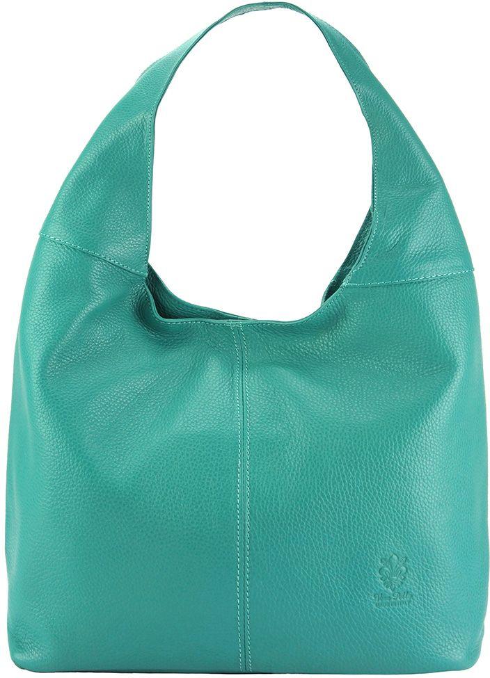 Δερματινη Γυναικεια Τσαντα Ωμου The Caissa Firenze Leather 0834 Τυρκουαζ γυναίκα   τσάντες ώμου   χειρός