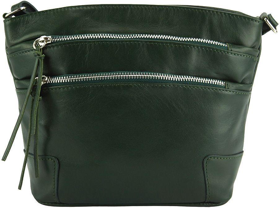 d5db29a610 Δερματινο Τσαντακι Ωμου Arianna Firenze Leather 6119 Σκουρο Πρασινο
