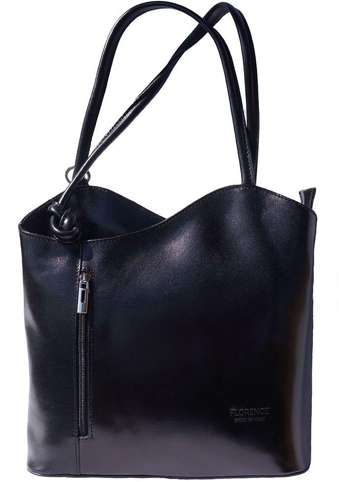 Δερμάτινη Τσαντα Ωμου Cloe Firenze Leather 207 Μαύρο γυναίκα   τσάντες ώμου   χειρός