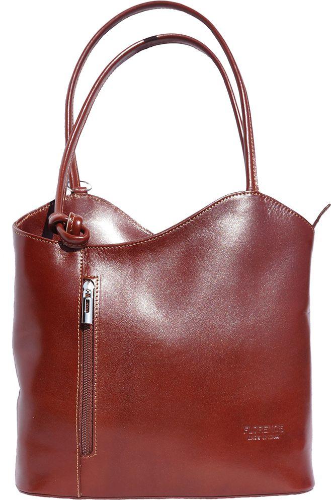 Δερμάτινη Τσαντα Ωμου Cloe Firenze Leather 207 Καφε γυναίκα   τσάντες ώμου   χειρός
