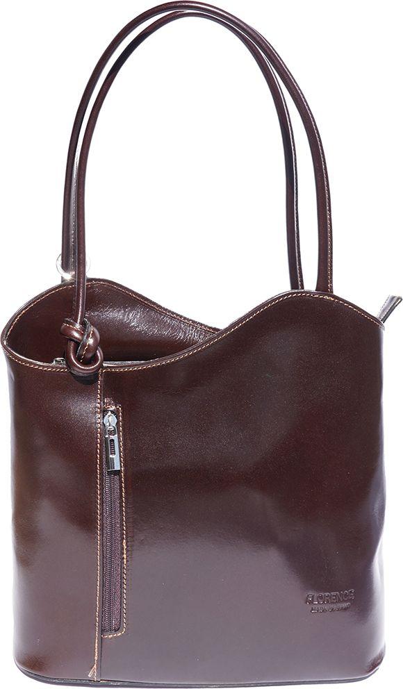 Δερμάτινη Τσαντα Ωμου Cloe Firenze Leather 207 Σκουρο Καφε γυναίκα   τσάντες ώμου   χειρός