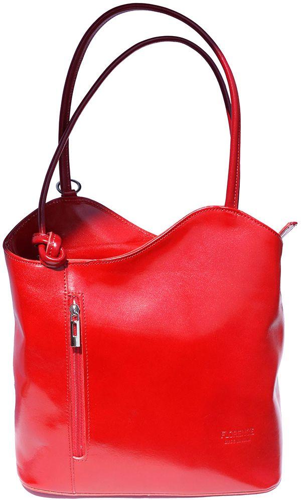 Δερμάτινη Τσαντα Ωμου Cloe Firenze Leather 207 Κόκκινο γυναίκα   τσάντες ώμου   χειρός