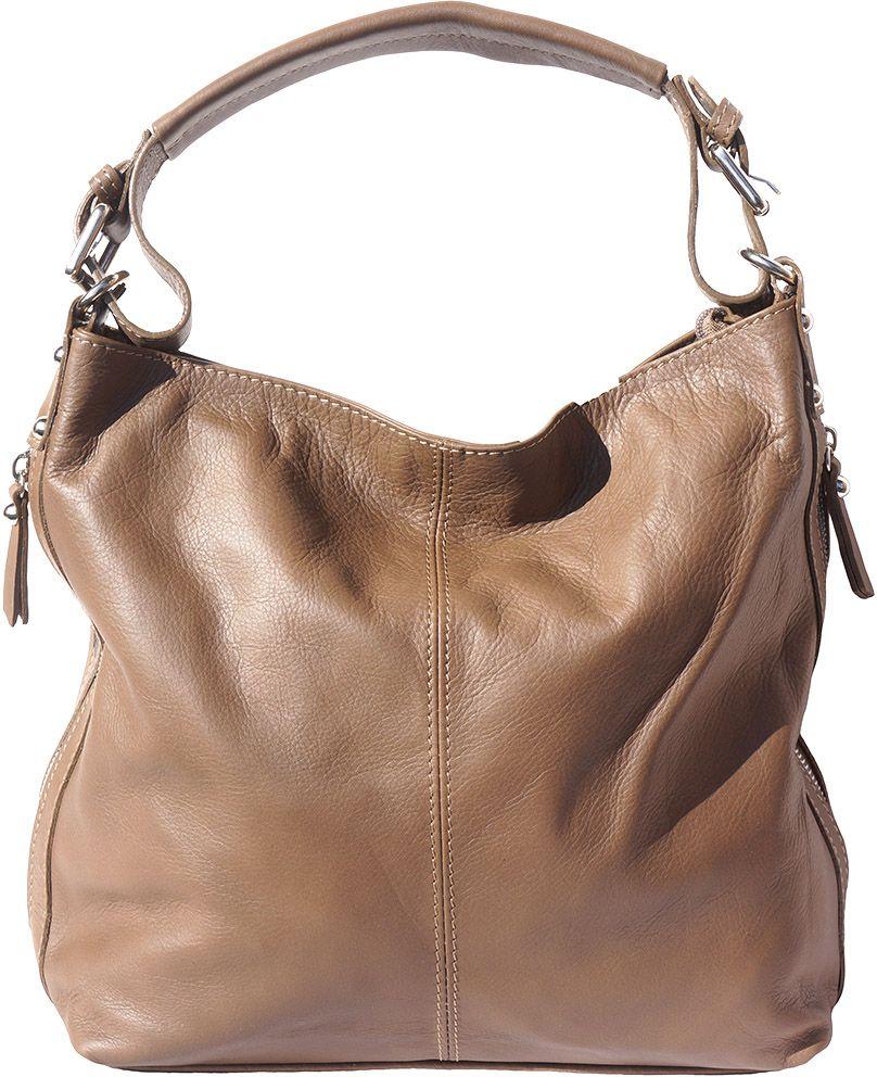 Δερματινη Τσαντα Ωμου Betta Firenze Leather 3013 Σκουρο Μπεζ γυναίκα   τσάντες ώμου   χειρός