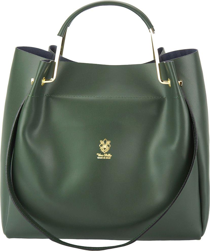 Δερμάτινη Τσάντα Ωμου Eleonora Firenze Leather 8051 Σκουρο Πρασινο γυναίκα   τσάντες ώμου   χειρός