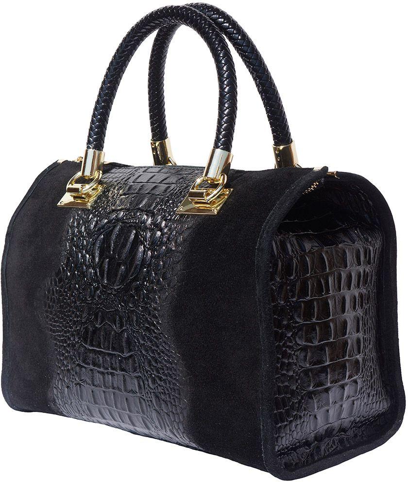 Δερματινη Τσαντα Χειρος Emma Firenze Leather 7002 Μαύρο γυναίκα   τσάντες ώμου   χειρός
